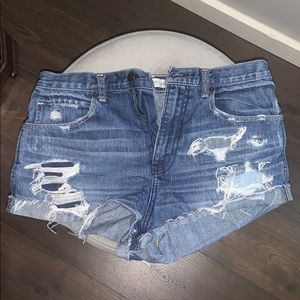 Ripped Abercrombie & Fitch high waisted shorts